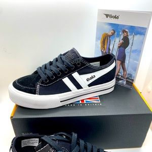 Gola: unisex black suede/canvas sneakers